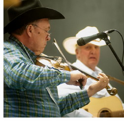 Performers at the 2014 Fiddler's Jamboree in Didsbury.